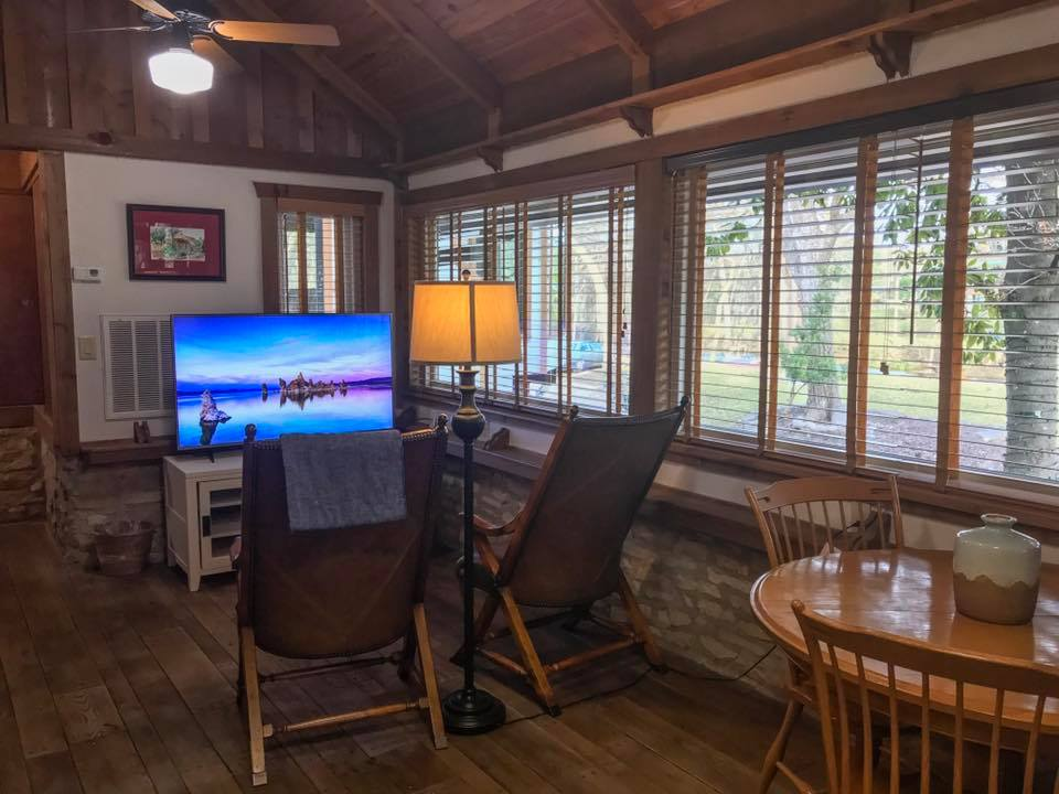 living and dining area with TV
