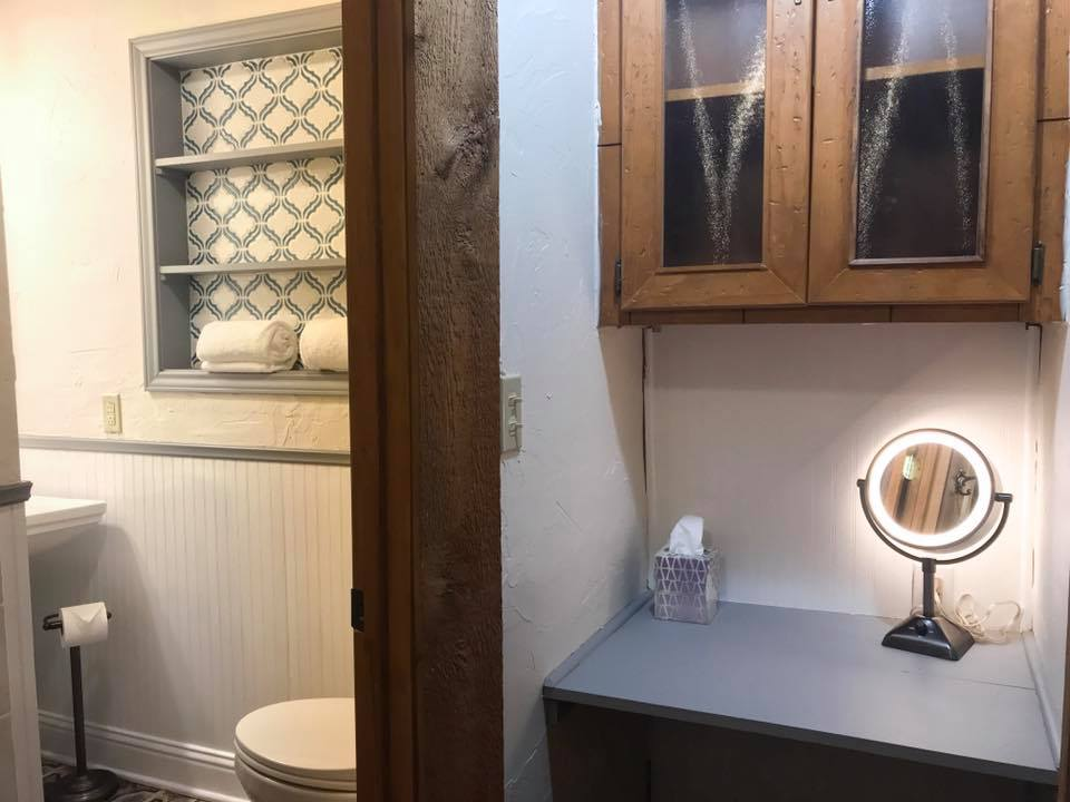 Bathroom with vanity area