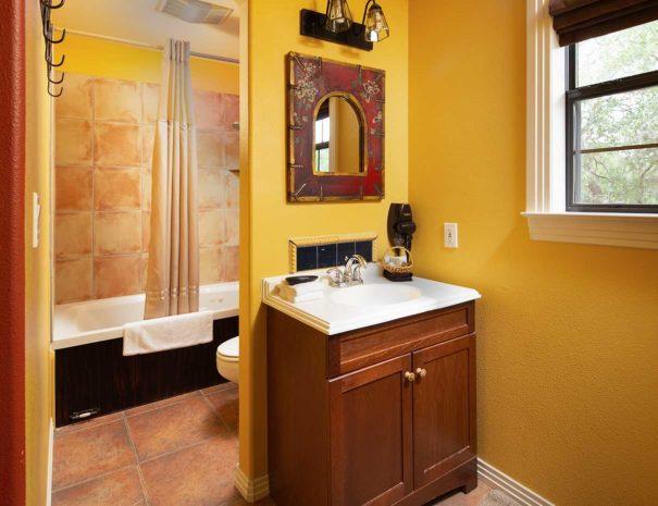 cherokee rose bathtub sink view