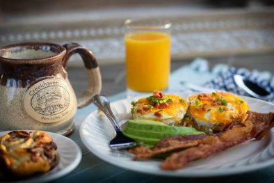 egg cups avacado bacon
